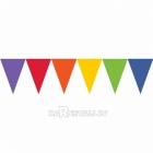Гирлянда-флажки, яркие цвета радуги - 24 флажка и 4.5м атласнаая лента