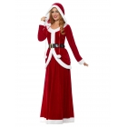 Miss Santa Luksa tērps sarkans, kleita ar kapuci un josta