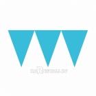 Vimpeļu virtene, gaiši zila  - 24 karodziņi un  4.50m lente