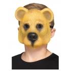 Lāces bērnu maska, gaiši brūna