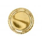 Papīra šķīvji 23 cm, zelta, sudraba, 6 gab.