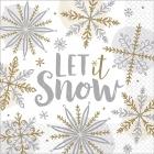 """Salvetes """"Spīdošs sniegs"""", 33 x 33 cm, 16 gab"""