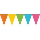 Vimpeļu virtene, krāsaina, pasteļtoņos - 24 karodziņi, 457 x 17.7 cm