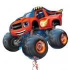 Folijas balons ar hēliju Blaze and the Monster Machines, 86x71 cm, piepūšana ar hēliju ietilpst cenā.