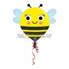 Folijas balons ar hēliju Bitīte, 45cm, piepūšana ar hēliju ietilpst cenā