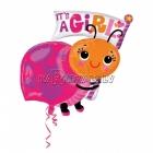 Folijas balons meitenes piedzimšanai Mārīte, 63x81cm, piepūšana ar hēliju ietilpst cenā