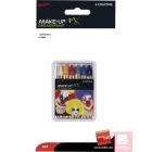 Комплект мелков для макияжа, 6 цветов - белый, желтый, красный, зеленый, синий, чёрный.