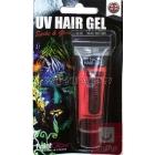 Красный ультрафиолетовый гель для волос , 10мл, блистерная упаковка.