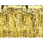 Folijas aizkari, eņģeļmati, lietutiņš, zelta, 90 x 250 cm