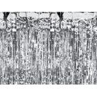 Folijas aizkari, eņģeļmati, lietutiņš, sudraba, 90 x 250 cm