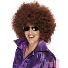 Большой афро парик, коричневый, синтетика