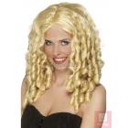 Парик кинозвезда, блондинка, длинный, кудрявый, синтетика