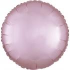 Folijas balons, maigi rozā, matēts,  apaļš, 43cm