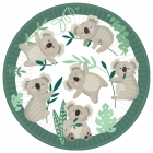 8 šķīvji Koala, papīrs 22.8 cm