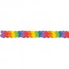 Papīra virtene Varavīksnes krāsas, 3,65m x 17cm