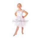 Baltās fejas kostīms 4-6 gādu vecumā meitenēm, komplektā kleita ar spārniem un organzas ar adruku, izmērs 114cm