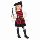 Pirātes, jūras laupītājas kostīms 4-6 gādu vecumā meitenēm
