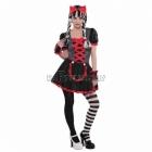 Костюм Готической Куклы для девочек 12-13 лет - платье, повязка на голову, перчатки без пальцев, колготки. M - размер