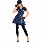 Policistes, kostīms 12-14 gādu vecumā meitenēm, komplektā kleita, cepure, josta, cimdi bez pirkstiem, legingi, rokudzelži
