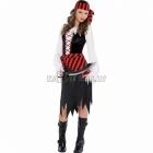 Pirāta kostīms, meiteņu kostīms 12 - 14 gadu vecumam