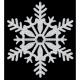 Spīdiga sniegpārsliņa, diam 28cm., 1 gab. Plastmasas, ar sudrabu spīdumu abās pusēs.