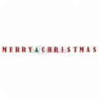 Гирлянда-буквы Merry Christmas, бумажная декорация для Рождества,  длина 365см