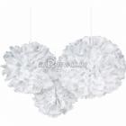 Снежинки - помпоны, бумажная подвесная декорация, комплект 3шт х 41см