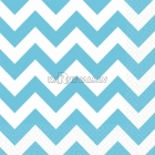 Салфетки бумажныес рисунком ЗИГЗАГ, цвет - карибский голубой, 33х33см 20 шт.