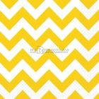Салфетки бумажные с рисунком ЗИГЗАГ, цвет - желтый, 33х33см 20 шт.