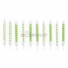 Sveces kivi, ar punktiņu un līkloču | zigzag rakstu, ar svečturitiem, 6.3cm, 10gb