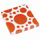PUNKTI Papīra salvetes, Oranža krāsa, izmērs - 33х33cm 20.gab.