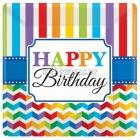 Papīra šķivji, Dzimšanas diena, 18 cm, 8.gab.