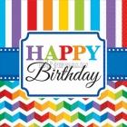 Papīra salvetes, Dzimšanas diena, izmērs - 33х33cm 16.gab.