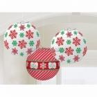 Латерны с Рождественским рисунком - комплект 6шт. разного размера.