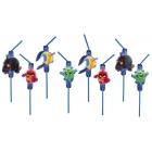 Kokteiļa salmiņi 24cm 8 gab. Tēma: Angry Birds