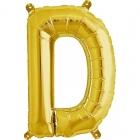"""Шар буква """"D"""", 41cм, фигура из фольги заполняется воздухом"""