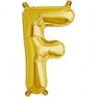 """Шар буква """"F"""", 41cм, фигура из фольги заполняется воздухом"""