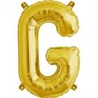 """Шар буква """"G"""", 41cм, фигура из фольги заполняется воздухом"""