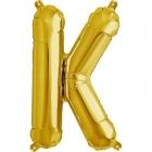"""Шар буква """"K"""", 41cм, фигура из фольги заполняется воздухом"""