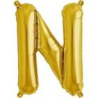 """Шар буква """"N"""", 41cм, фигура из фольги заполняется воздухом"""