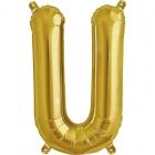"""Burtu balons """"U"""",  41cm, folijas figūra paredzēta piepūšanai ar gaisu"""