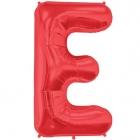 """Шар буква """"E"""", 87cм, фигура из фольги заполняется гелием"""