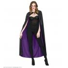 Divpusējais apmetnis – melns/violets garums 130 cm