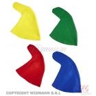 Rūķa cepure karnevālam (sarkana, zaļa, zila,dzeltena krāsa) 1 gab.