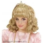Белый карнавальный парик для девочки  и тиара