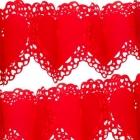 Бумажная гирлянда - Сердечки красные