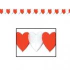 Valentīndienas papīra dekoracija-vītne, 0.17x3.6 m