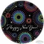 Тарелки с рисунком. Тема  -Новый год , 17.7 см, 8 шт. Тема  - новогодний коктейль