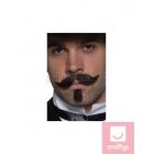 Чёрные усы и борода