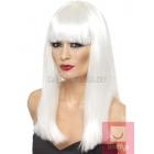 Белый женский парик